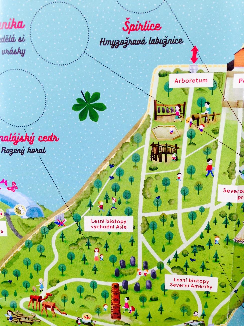 Prazska Botanicka Zahrada Laka Deti Na Novou Kreslenou Mapu Kam S