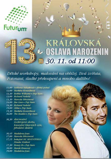 oslava 13 narozenin Královská oslava 13. narozenin OC Futurum | Kam s dětmi – aktivity  oslava 13 narozenin